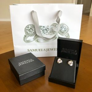 Samuels Jewelers Sterling Silver Knot Earrings